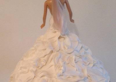 tort barbi biała