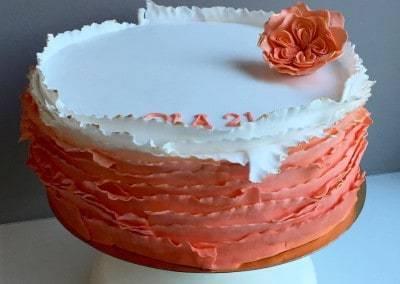 tort falbankowy pomarańczowy