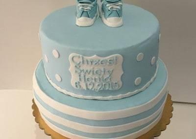 tort na chrzciny dla chłopca