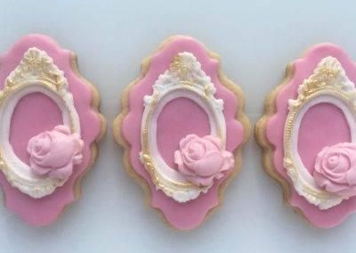 ciasteczka barokowe różowe