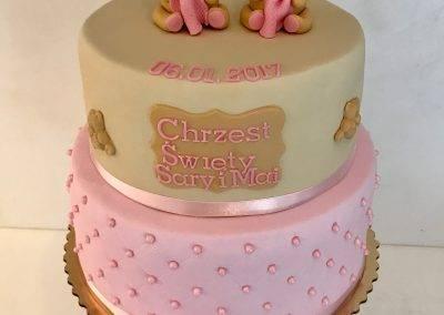 tort na chrzciny misie