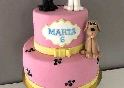 tort z kotkami i pieskiem