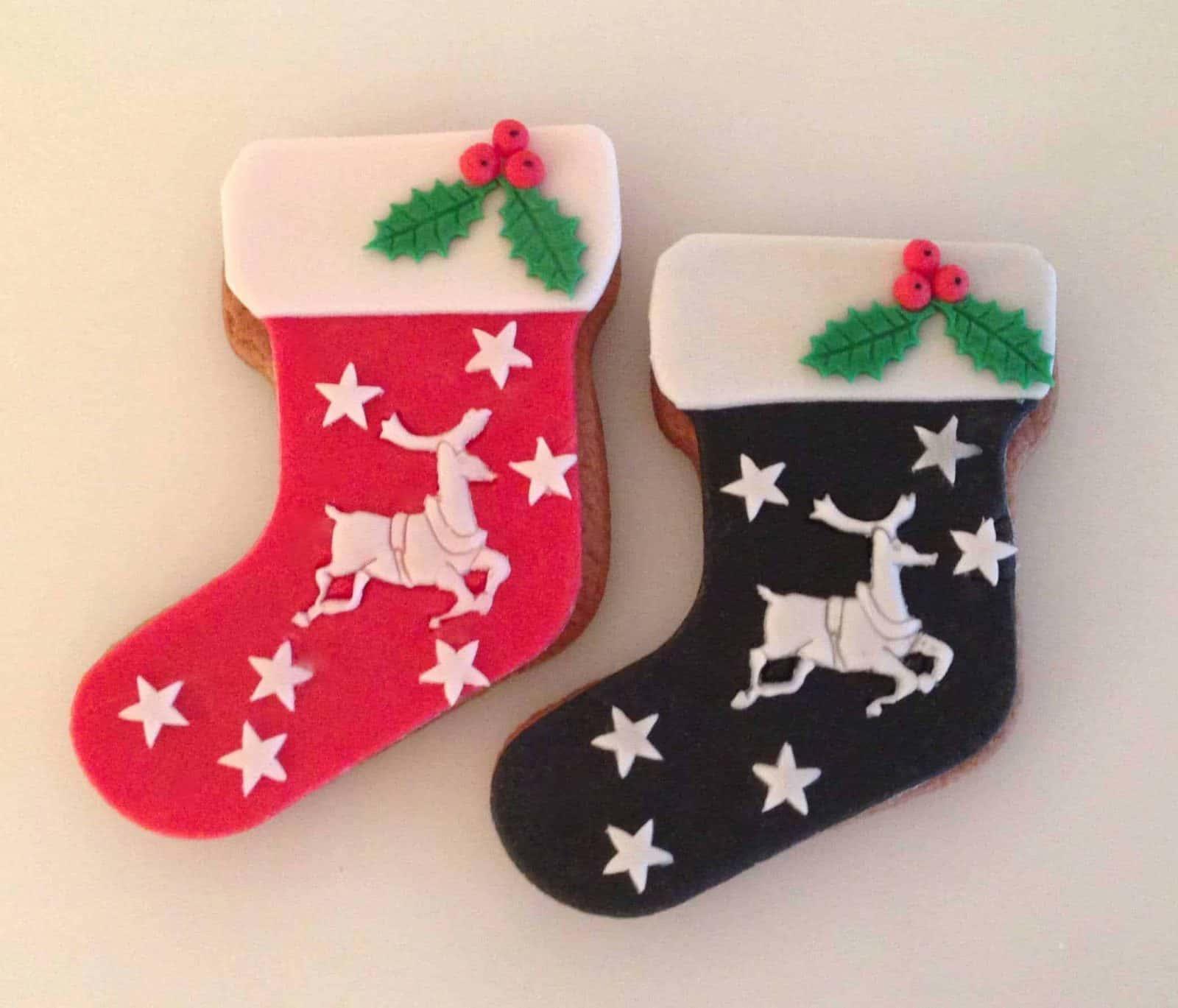 pierniczki świąteczne skarpeta