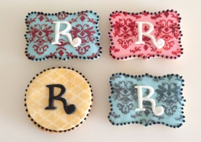 ciasteczka z monogramem