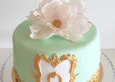 tort urodzinowy miętowy
