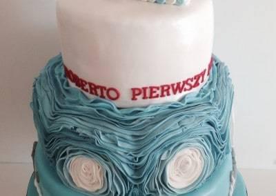 tort urodzinowy z jachtem