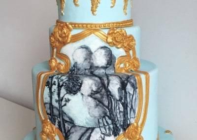 tort weselny barokowy