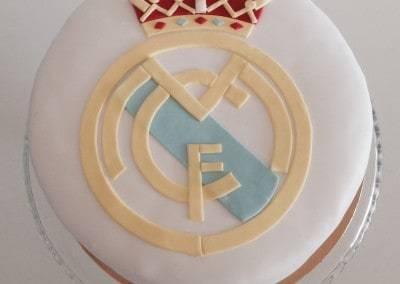 tort z logo FC barcelona