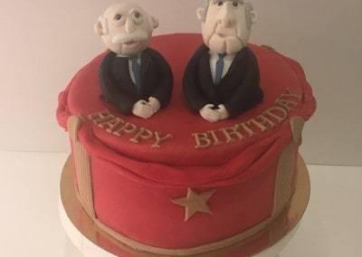 tort urodzinowy Statler i Waldorf z Muppet Show