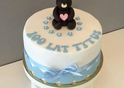 tort z misiem