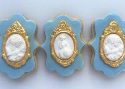 ciasteczka barokowe niebieskie
