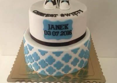 tort na chrzciny dla chlopca