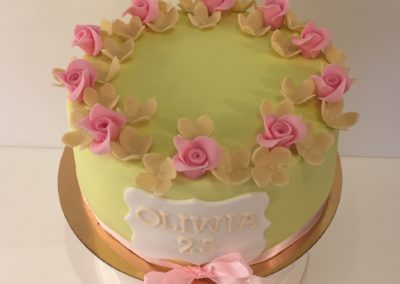 tort urodzinowy zielony