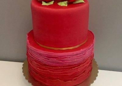 tort urodzinowy czerwony roza juliett
