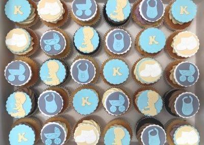 muffinki na baby shower dla chlopca