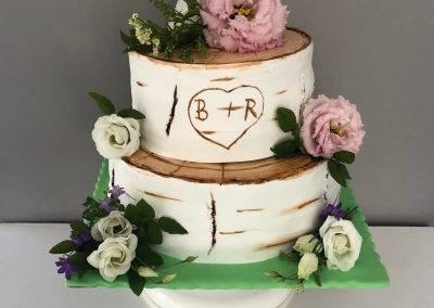tort weselny pień brzozy