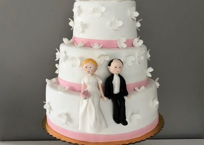 tort na ślub i chrzciny
