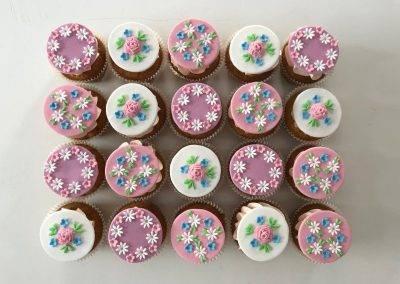 muffinki w kwiatki