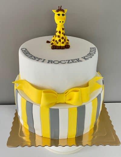 tort na chrzciny zyrafa
