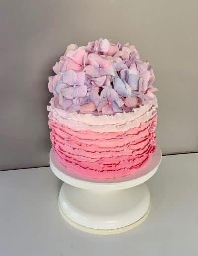 tort falbankowy hortensja