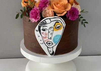 tort z tatuazem