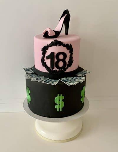 tort szpilka i dolary
