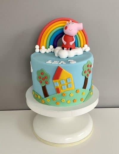 tort dla dziewczynki pepa
