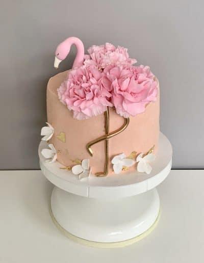 tort z flamingiem