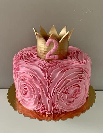 tort korona na 2 urodziny