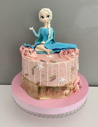 tort elsa rozowy
