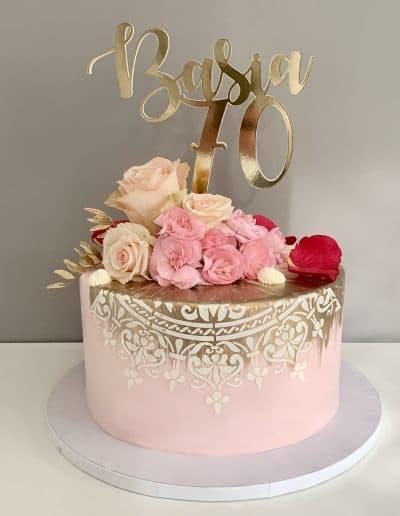 tort na 70 urodziny