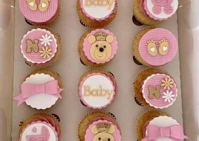 muffinki na baby shower dla dziewczynki