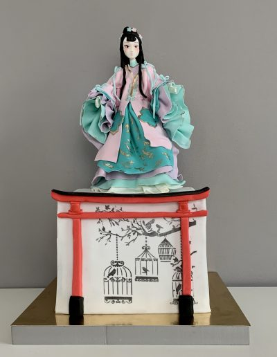 tort japoński gejsza