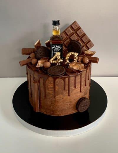 tort jack daniels czekoladowy