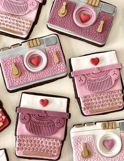 ciasteczka maszyna do pisania rozowe