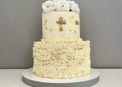 tort falbankowy na komunię
