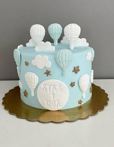 tort na roczek balony