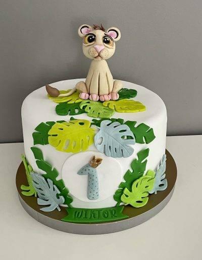 Simba tort król lew