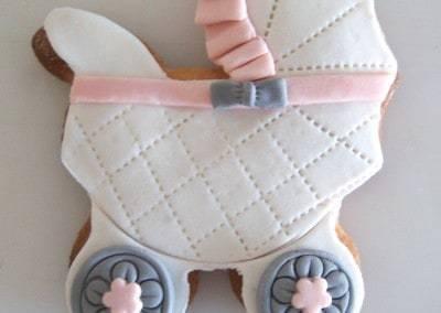 ciasteczko baby shower wózek